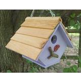 Bird Houses by Mark Chalet Wren Bird House, Lavender