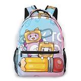 Fashion Foxy Boxy School Bags For Girls&Boys College School Kids Computer Bag Daypacks