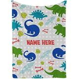 Dinosaur Blanket for Boys - Dinosaur Bedding - Dinosaur Baby Blanket - Dinosaur Toddler Bedding - Dinosaur Crib Bedding - Personalized Baby Blankets for Boys with Name Fleece Blanket for Boy,Kids 3