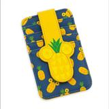 Disney Bags | Disney Mickey Mouse Pineapple Card Case Wallet | Color: Blue/Yellow | Size: Os