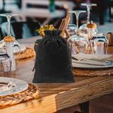 ANMINY 25 Pcs Velvet Jewelry Packing Wedding Party Favors Gift Bags in Black | Wayfair 06FTB0022CBK