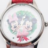 Disney Accessories | Disney Mickey & Minnie Christmas Holiday Watch | Color: Green/Red | Size: Os