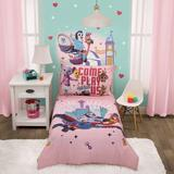 Disney Special Delivery 4 Piece Toddler Bedding Set Polyester in Blue | Wayfair 3449416P