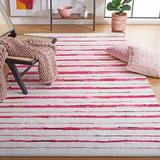 Highland Dunes Levine Striped Handmade Flatweave Area Rug Polyester/Cotton in Red, Size 60.0 W x 0.31 D in | Wayfair