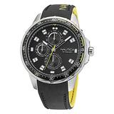 Nautica Men's Stainless Steel Quartz Silicone Strap, Black, 22 Casual Watch (Model: NAPCLF009)