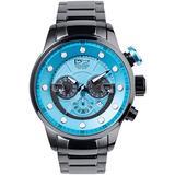Daniel Steiger Men's Maverick Watch - Colorful Dial Sports Watch - Stainless Steel Bracelet - Quartz Chronograph Movement - 100M Water Resistant - Magnificent Presentation Case Included (Blue Dial)
