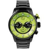Daniel Steiger Men's Maverick Watch - Colorful Dial Sports Watch - Stainless Steel Bracelet - Quartz Chronograph Movement - 100M Water Resistant - Magnificent Presentation Case Included (Green Dial)