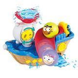 Play Bath Raiders Boat Toys - First Tub Tugs & Educational Tugboat Toys for Boys Girls 6 Months Plus - DIY Wall Suction Tracks Waterfall Spinning Gear Bathtub Toys Gift Newborn Babies Infants
