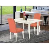 East West Furniture NOEN3-LWH-78 Dining Set