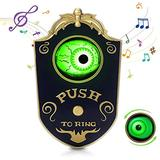 Halloween Decoration, Halloween Doorbell Spooky Decor Lightup Halloween Talking Eyeballs with Spooky Sounds,Trick or Treat Event for Kids, Animated Haunted House Halloween Party Prop Decoration