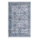 nuLOOM Indoor Rugs Blue - Blue Geometric Floral Vintage Anaelle Rug