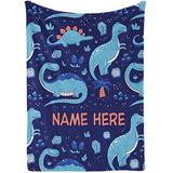Dinosaur Blanket for Boys - Dinosaur Bedding - Dinosaur Baby Blanket - Dinosaur Toddler Bedding - Dinosaur Crib Bedding - Personalized Baby Blankets for Boys with Name Fleece Blanket for Boy,Kids 1