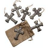 Cross Collection, 6 Assorted Handmade Hope Crosses, Collect Peace Cross, Haitian Metal Milagro, Gift, Small Ornamental, Haiti, Sacred 3 x 4 1/4