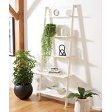 SAFAVIEH Shelves WHITE - White Five-Tier Cullyn Leaning Bookcase