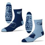 Men's For Bare Feet Memphis Grizzlies 2-Pack Team Quarter-Length Socks