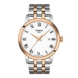 Tissot mens Classic Dream Stainless Steel Dress Watch Rose Gold T1294102201300