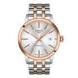 Tissot mens Classic Dream Stainless Steel Dress Watch Rose Gold T1294072203100