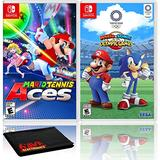 Mario Tennis Aces + Mario and Sonic at the Olympic Games Tokyo 2020 - Two Game Bundles - Nintendo Switch