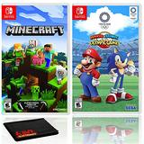 Minecraft + Mario and Sonic at the Olympic Games Tokyo 2020 - Two Game Bundle - Nintendo Switch