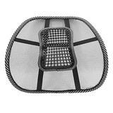 uxcell Car Massage Vent Mesh Lumbar Back Support Brace Seat Chair Waist Cushion Pad