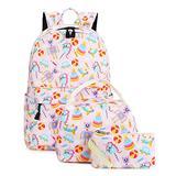 Abshoo Cute Unicorn Backpacks for Girls School Kids Backpacks With Lunch Bag (Light Pink Unicorn Set)