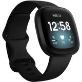 Versa 3 Black Strap Smart Watch 39mm - Black - Fitbit Watches