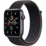 Apple Watch SE (GPS + Cellular, 44mm, Space Gray Aluminum, Charcoal Sport Loop Ba MYEU2LL/A