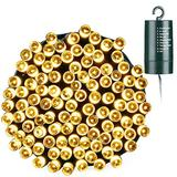 Toodour Battery String Lights, 68.9ft 200 LED String Lights with 8 Twinkle Modes, Timer, Waterproof Battery Operated String Lights for Home, Garden, Party, Holiday Decorations (Warm White)