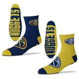 Men's For Bare Feet Denver Nuggets 2-Pack Team Quarter-Length Socks