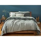 Coyuchi Mariposa Supersoft 100% Cotton Blanket Cotton in Gray, Size 92.0 H x 90.0 W in | Wayfair 1023563