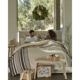 Coyuchi Mariposa Supersoft 100% Cotton Blanket Cotton in White, Size 92.0 H x 90.0 W in | Wayfair 1023561