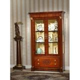 Infinity Furniture Import Orpheus Lighted Curio Cabinet Wood in Brown/Red, Size 81.0 H x 48.0 W x 19.0 D in | Wayfair OP-751-2