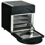 Costway 16-in-1 Air Fryer 15.5 QT Toaster Rotisserie Dehydrator Oven-Black