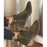 ROSY Women's Casual boots Navygreen - Navy Green Ankle Boot - Women