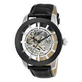 Invicta Men's Watches - Black & Stainless Steel Openwork Leather-Strap Watch