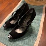 Nine West Shoes   Black Suede Mary Jane Heels   Color: Black   Size: 9.5