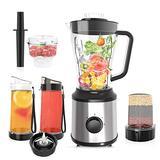 CLORIS Food Processor Blender Combo Vitamix Countertop Blender Frozen Drink Machine Food Processor Smoothie Coffee/Spice Grinder/Food Chopper Como