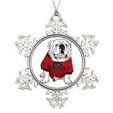 VinMea Xmas Snowflake Ornaments UGA Bulldog Christmas Snowflake Ornaments Ideas for Decorating Christmas Trees