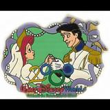 Disney Accessories | Pin 1870 - 2000 Wedding Series Ariel & Prince Eric | Color: Green/White | Size: Os