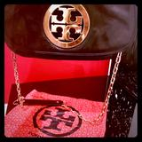 Tory Burch Bags | Black Leather Tory Burch Clutch | Color: Black | Size: Os