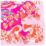 Abstract Floral Print Scarf - Pink - Emilio Pucci Scarves