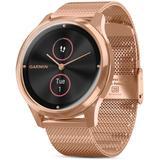 Vivomove Luxe Milanese Mesh Bracelet Touchscreen Hybrid Smartwatch - Black - Garmin Watches