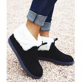 YASIRUN Women's Casual boots Black - Black Faux Fur-Lined Ankle Boot - Women