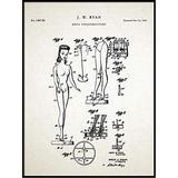 Barbie Doll Patent Print, 1961 Barbie Doll, Barbie Wall Art, Toy Patent, Printable Art, Toy Doll, Toy Barbie, Toy Doll, QP195
