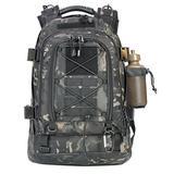 Paladins Backpack Large Work Backpack Military Camo Backpack Molle System Waterproof for Men (PA1001-BLACK-MULTICAM)