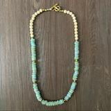 Anthropologie Jewelry   Java Glass Necklace   Color: Blue/Green   Size: Os
