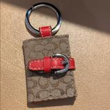 Coach Accessories   Coach Picture Frame Keyfobkeychain   Color: Brown/Red   Size: Approximately 2 X 1-12
