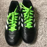 Adidas Shoes | Adidas Boys Black White Lime Soccer Cleats | Color: Black/Green | Size: 3bb