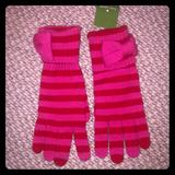 Kate Spade Accessories | Kate Spade Sawyer Striped Wool Gloves Nwt | Color: Pink/Red | Size: Medium