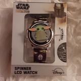 Disney Accessories | Disney'S Mandalorian The Child Spinner Watch | Color: Black/Green | Size: Os